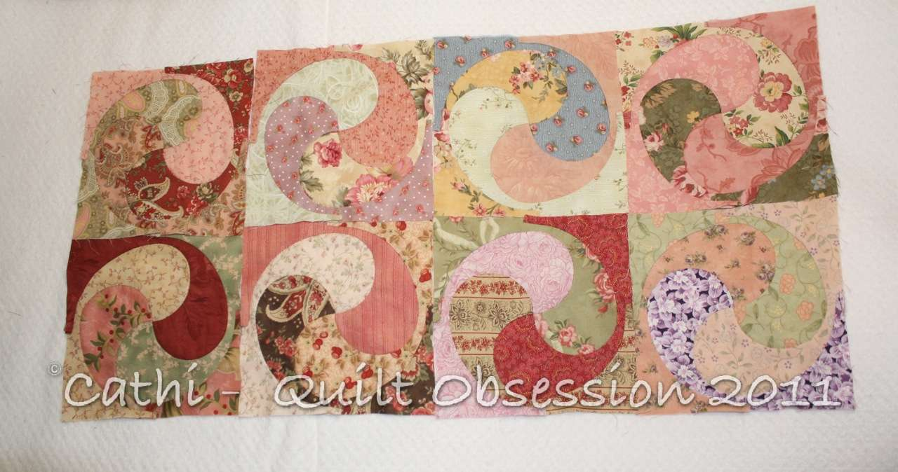 More Shabby Yin Yang Blocks | Quilt Obsession : curved quilt blocks - Adamdwight.com