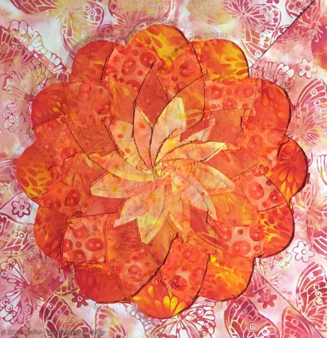 Back of marigold Ribbon Flowerwtmk