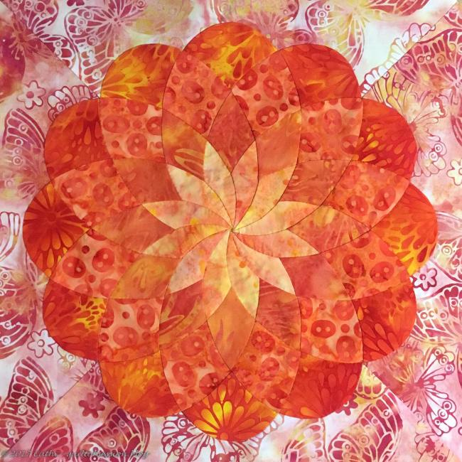Marigold Ribbon Flowerwtmk
