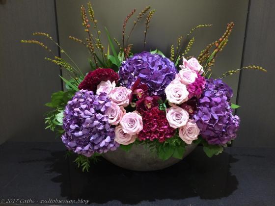 Elevator Lobby Flowers Sept. 8:9, 2017wtmk