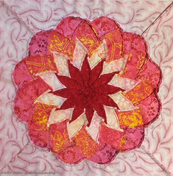 Back of ribbon flower, graded seamswtmk