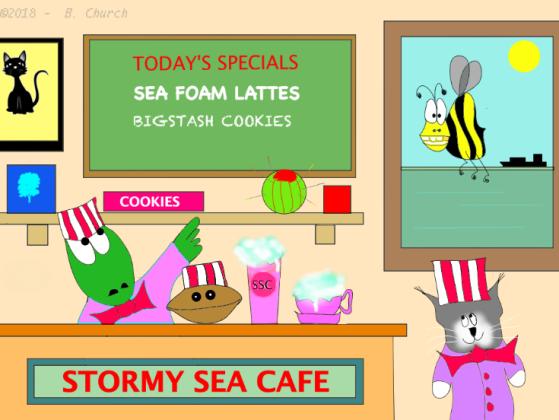 Stormy Sea Cafewtmk