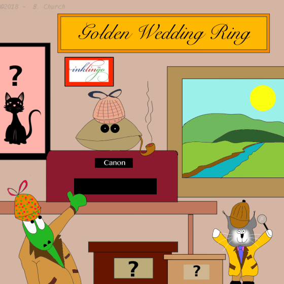 golden wedding ringwtmk