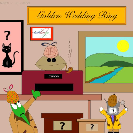 golden wedding ringwtmk